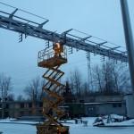 Строительство кабельной эстакады на территории завода им.Климова (4)