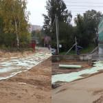 Реконструкция автодороги по ул Тихая посёлок Мурино (4)