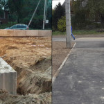 Укрепление грунта стеной из ФБС и устройство парковки торгового комплекса в посёлке Мурино ул Тихая 12